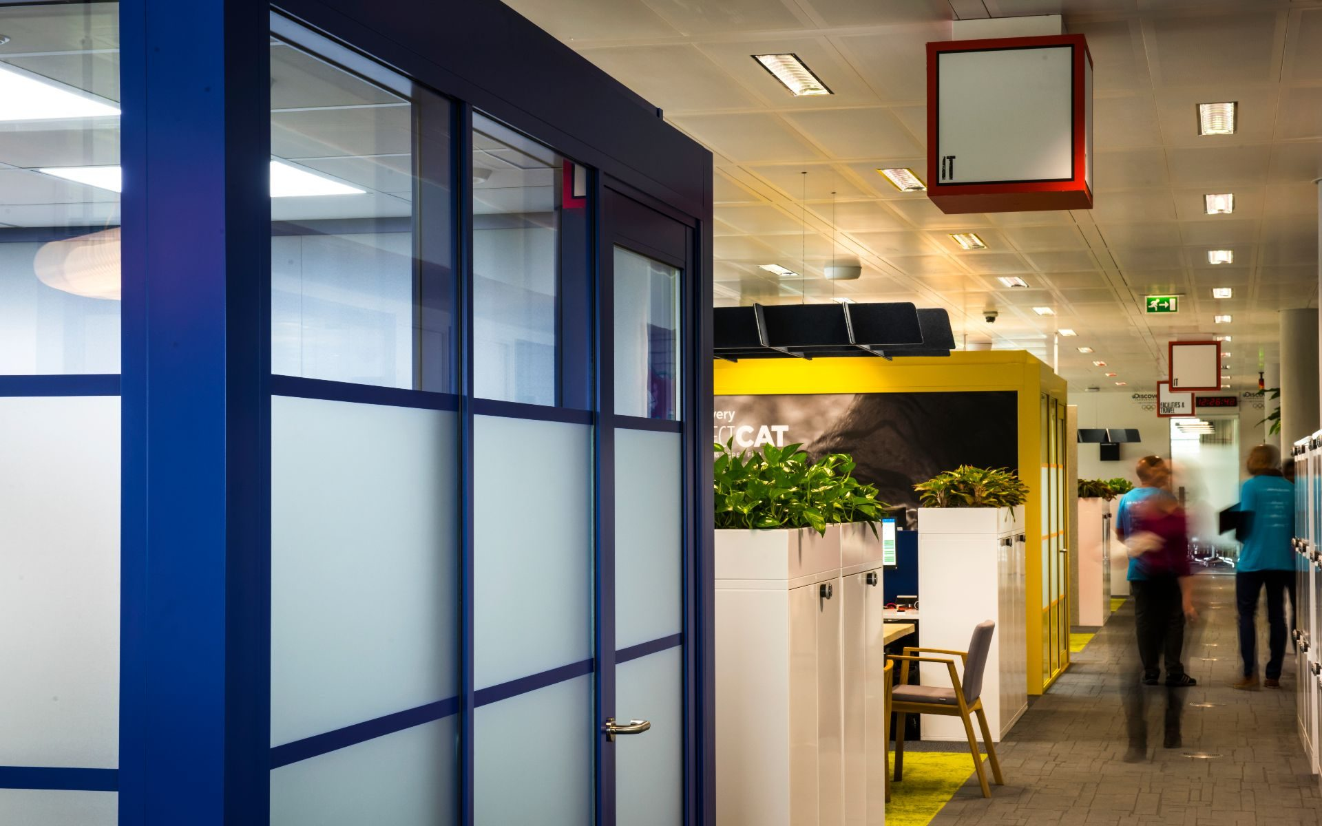 Meeting pods | acoustics | office | open plan space | pods | Olympics | Olympic rings